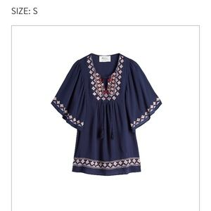 Alice Blue Embroidered Tunic